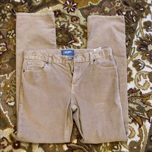 Other - Old Navy slim straight corduroy pants.